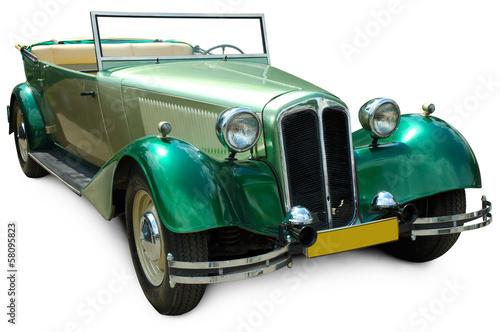 Keuken foto achterwand Vintage cars Classic green covertible retro car