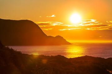 Fototapeta Sunset sceny