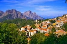 Corsica, Porto Area : Evisa Village