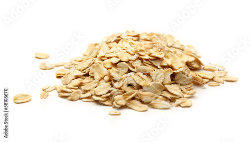 Photo Heap of rolled oats