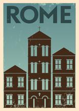 Vintage Rome City Poster