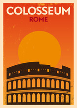 Vintage Colosseum Poster