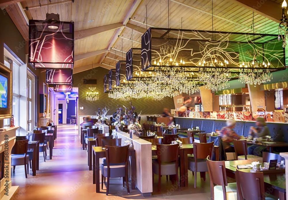 restaurant with stylish decoration Foto, Poster, Wandbilder bei ...