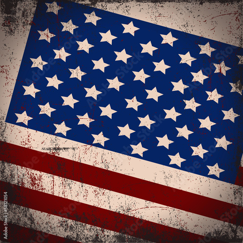 Canvas Prints Retro sign u.s.a. flag