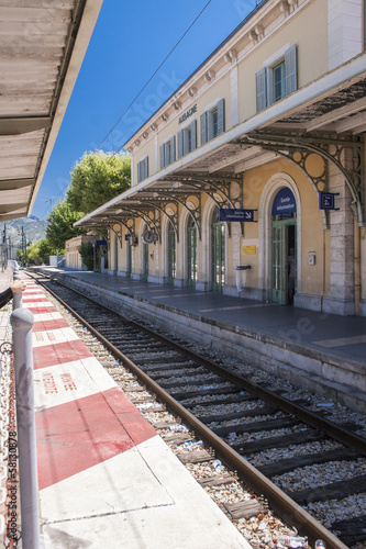 Aubagne, near Marseille, France, station.. Canvas Print