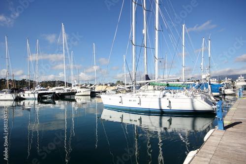 Foto op Plexiglas Water Motor sporten yachts in a marina