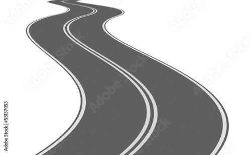Strada curve Wallpaper Mural