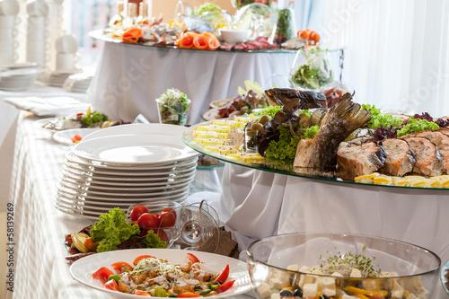 Fotografie, Obraz  Catering at wedding reception