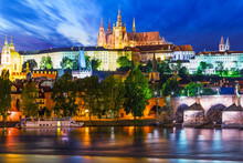 Night Scenery Of Prague, Czech...