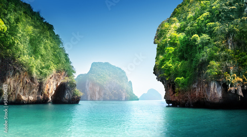 Poster Tropical plage .fabled landscape of Thailand