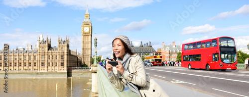 Papiers peints Londres London travel banner - woman and Big Ben
