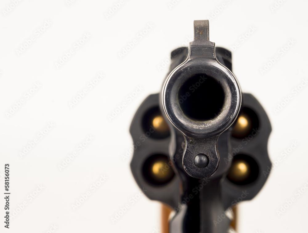 Fototapeta 38 Snub Nose Revolver Weapon Gun Pointed at Viewer