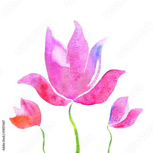 Colorful lotus flowers watercolor background buy this stock colorful lotus flowers watercolor background mightylinksfo