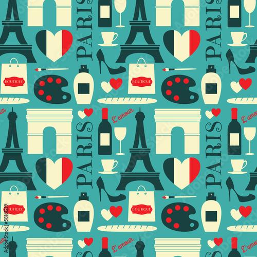 Tapety Francuskie  bezszwowe-tlo-w-paryzu