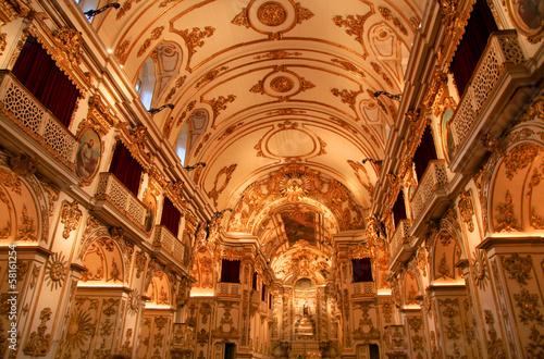 In de dag Rio de Janeiro Old Cathedral of Rio de Janeiro