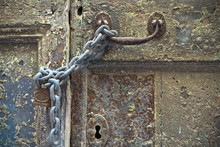 Chained And Padlocked Door