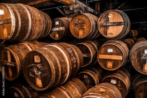 Foto Cognac-Fässer sind mehr als 100 Jahre alt