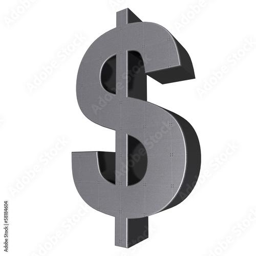 Fotografia, Obraz  3d sign collection - dollar