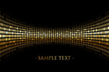 Vector Black Background With Gold Lights With Space For Your Tex
