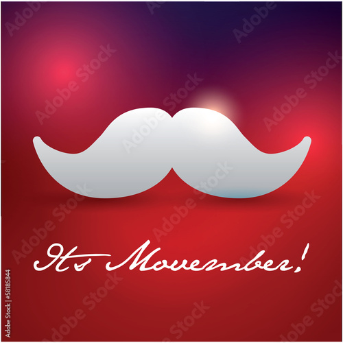 Photo  Movember mustache