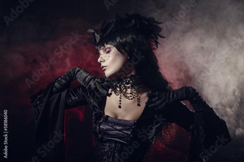 Fotografie, Obraz  Romantic gothic girl in Victorian style clothes