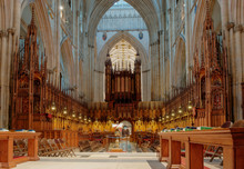 York Minster, England. Choir A...