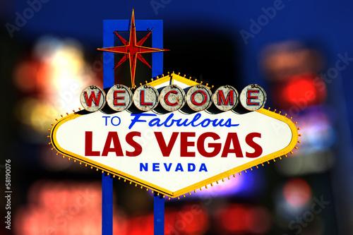 Poster Las Vegas Welcome to Las Vegas Sign