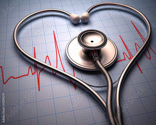 ksztalt-serca-stetoskop-dolaczona-sciezka