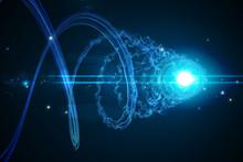 Futuristic Shiny Spiral On Bla...