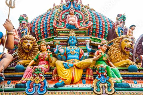 Keuken foto achterwand Bedehuis Hindu temple in Singapore