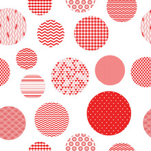 Red And White Patterned Circle...