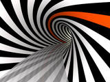 Fototapeta Do przedpokoju - Tunnel of lines, 3D