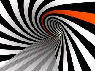 Fototapeta tunel wstęgi 3D