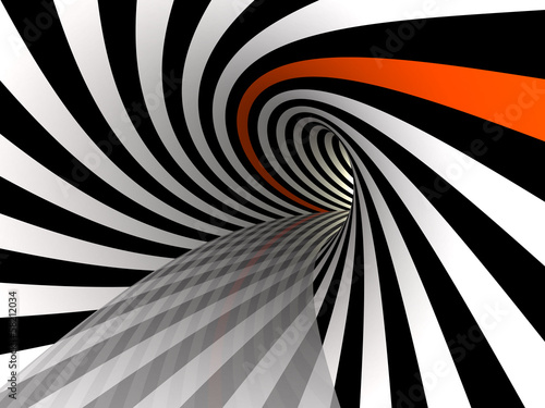 Tunnel of lines, 3D