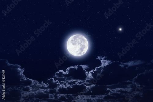 In de dag Volle maan Full moon