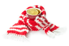 Wool Scarf, Wrapped Around A C...