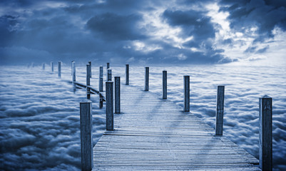 Fototapeta Mosty Bridge over the clouds
