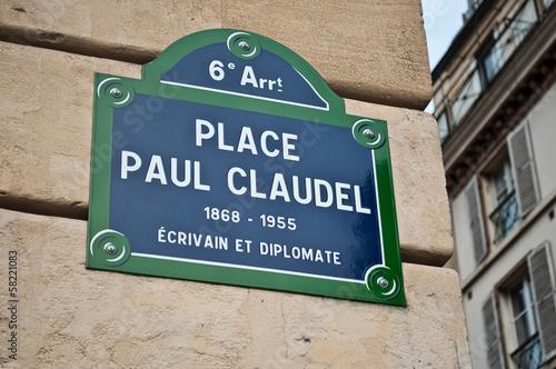 Photo  place Paul Claudel à Paris 6ièm