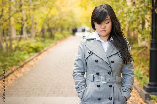 Fotografie, Obraz  Portrait of girl looking sad
