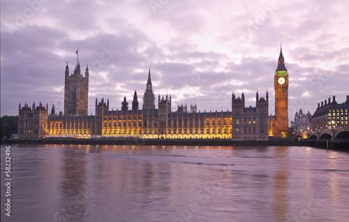 Foto op Aluminium Brussel Houses of Parliament and Big Ben at sunset, London, England