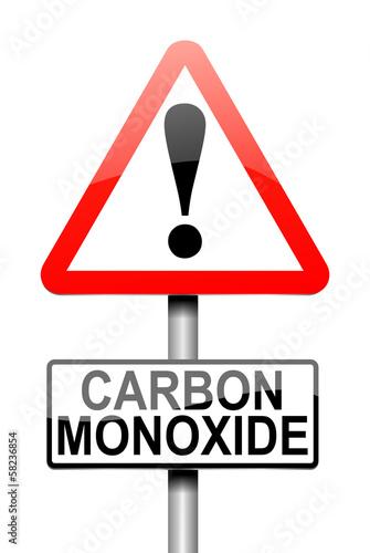 Valokuvatapetti Carbon Monoxide concept.