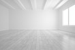 Leinwanddruck Bild - Bright white room