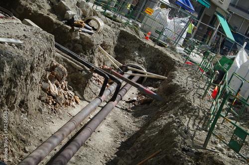 Valokuva  chantier - travaux d'assainissement