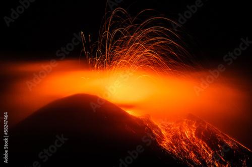 Staande foto Vulkaan Eruption etna 2013