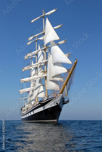 Türaufkleber Schiff Sailing ship. series of ships and yachts