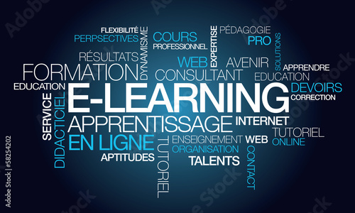 E-learning formation apprentissage en ligne illustration