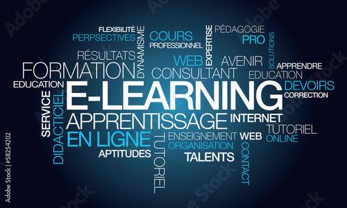 E-learning formation apprentissage en ligne illustration