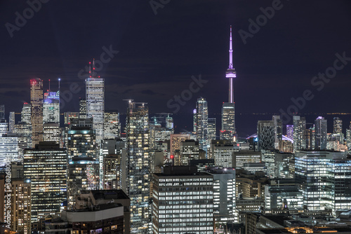 Fotografia  Downtown Toronto at night