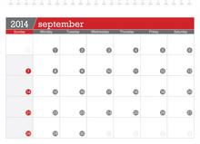 September 2014-planning Calendar
