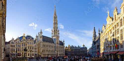 Tuinposter Brussel Bruxelles, grand place